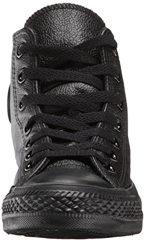 Converse Mens Chuck Taylor All Star Leather Hi Zwart / Monochroom