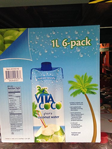 Vita Cocount Water 6/1 L (pack of 6) by Vita