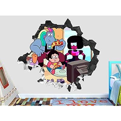 Steven Universe Group Wall Decal Sticker - Kids Wall Decal Decor - Art 3D Vinyl Wall Decal - GS43 (Medium (Wide 30