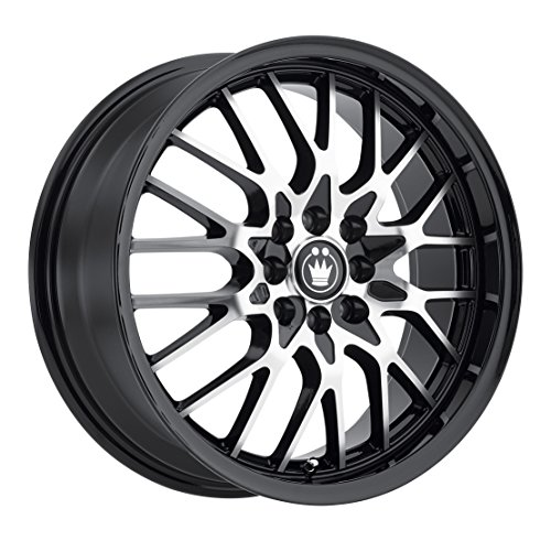 Konig Lace Black Wheel with Machined Face