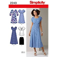 Simplicity Sewing Pattern 2249 Misses' and Plus Size Dresses, BB (20W-28W)