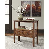 Abbonto Warm Brown Color Casual Accent Table