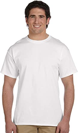 Fruit of the Loom Men/'s Ladies T Shirts Brand New Great Value Plain White