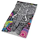 Lovexue Headband Paisley Floral Indian Elephant Outdoor Scarf Mask Neck Gaiter Head Wrap Sweatband Sports Headwear