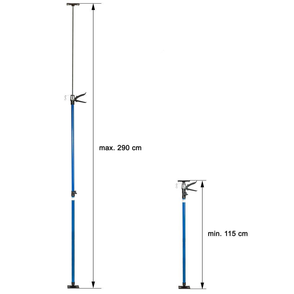 2X Blu   No. 401692 Modelli Differenti TecTake Pezzi PUNTELLO per Solai TELESCOPICO di Sostegno in Acciaio ESTENSIBILI da 115-290cm