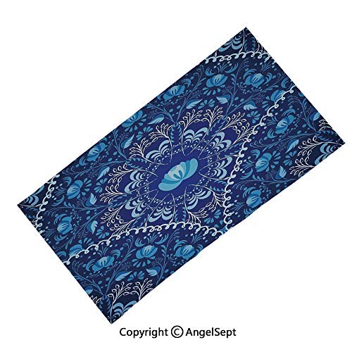 (AngelScarf Seamless Bandanas Face Mask Headband Sports,Hand Drawn Symbols with Flourishing Flowers Ancient Protection Power Icons Decorative Multicolor,Multifunctional Scarf Headwrap Neck Warmer)
