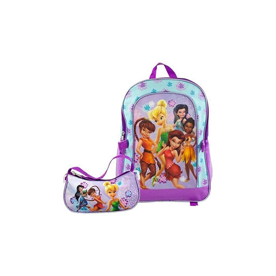 Disney Fairies Group Shot Medium Backpack With Detachable Purse