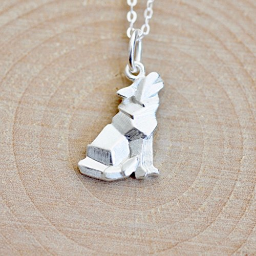Origami Wolf Necklace with 16