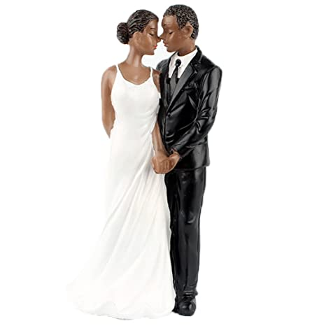 Amazon.com: yepmax Wedding Cake Toppers African American Wedding ...