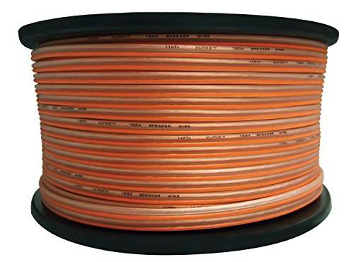- 18 gauge 500ft Speaker wire roll 18GA spool 2 CONDUCTOR STRANDED FLEX cable