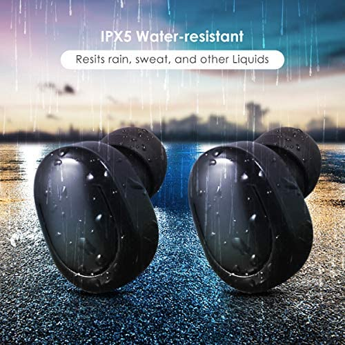 Safe Payment Wireless Earbuds, 5.0 True Wireless Bluetooth Headphones 3D Stereo Sound Wireless Headphones Mini Sweatproof Sport Headsets in-Ear Noise with Built-in Mic and Charging Case  ySc1vbF