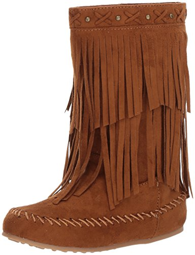 Girl Fringe Boots (Rampage Girls' Rak Bunnie Pull-on Boot, Cognac, 2 M US Little Kid)