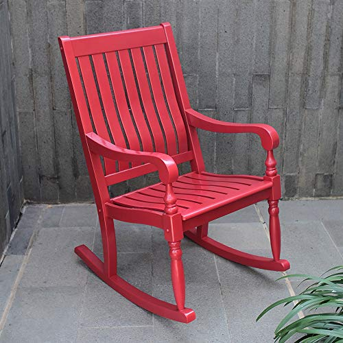 Cambridge-Casual AMZ-130826RD Thames Oversized Rocking Chair, Red