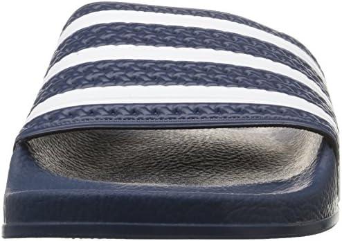 Adidas Originals Adilette Diapositive Sandal, Adidas Bleu/Blanc/adidas Bleu, 12 M Us