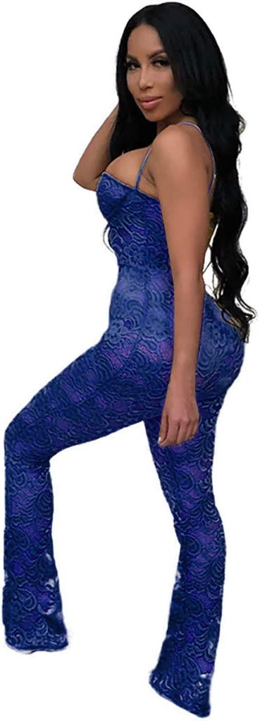 YKARITIANNA Women Ladies Clubwear Lace Playsuit Bodycon Party Jumpsuit Romper Trousers