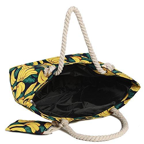 Grand sac imperméable avec plage de Bananes fermeture rrqUHFwx