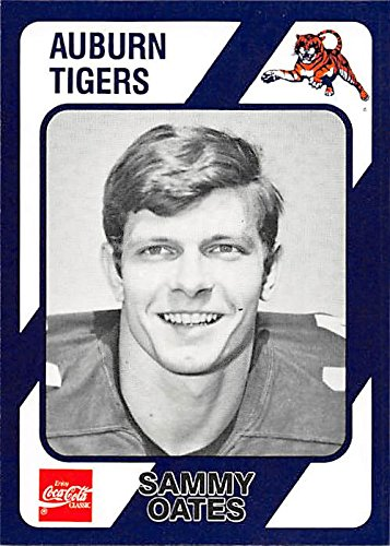Sammy Oates football card (Auburn Tigers) 1989 Collegiate Collection Coca Cola #471 by Autograph Warehouse