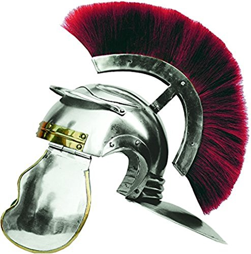 Costume Maximus Horse (Imperial Roman Helmet W/brass Accents and Red Plume -)