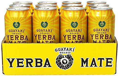 Guayaki Organic Yerba Mate, Lemon Elation, 16 Ounce (Pack of 24)
