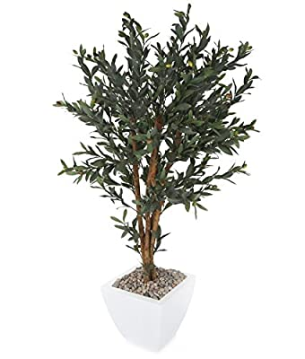 Closer to Nature Artificial 4ft Olive Tree - Artificial Silk Plant and Tree Range