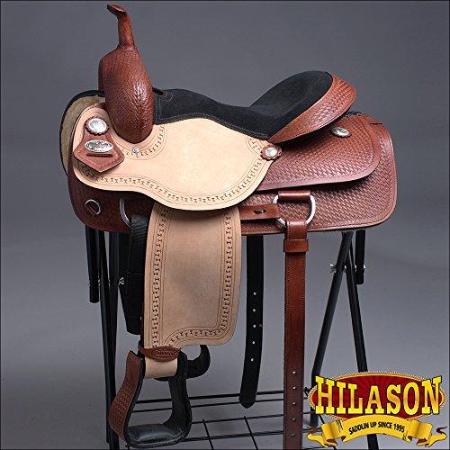 16' Roping Saddle (HILASON OS813-F WESTERN CUTTING ROPING HORSE RIDING SADDLE 16')