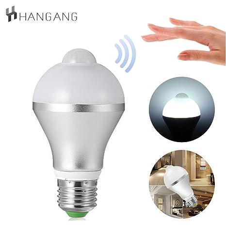 Hangang Sensor de Movimiento Detector de Luz LED Bombilla, 9 W Inteligente PIR LED Bombillas