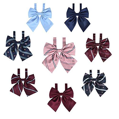 Women's Bowtie Japan School Uniform Adjustable Necktie Pre-tied Bow Tie PTK04