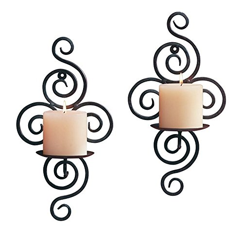 Wall Sconce Copper Candle (Home Candlestick Holders Handmade Iron Hanging Wall Sconce Candle Holder Shelf Furnishing Articles Decoration (Candle holder 3#))