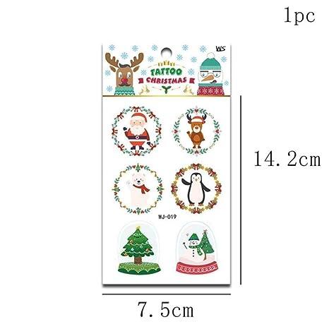 LKJH Decoración navideñaPegatinas De Navidad De Papá Noel ...