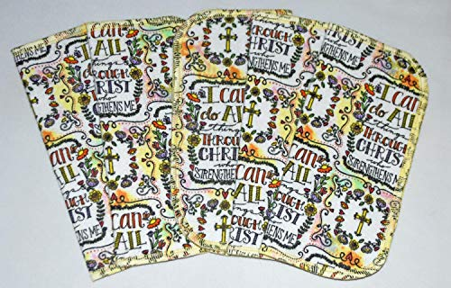 - 1 Ply-Strength in Christ-Set Napkins 8x8 inches 5 Pack - Little Wipes (R) Flannel