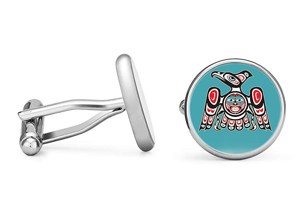 Contoured Edition Oakmont Cufflinks Tribal Eagle Cufflinks Native American Art Cuff Links
