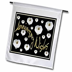 Taiche - Anniversary - Calla Lily - Anniversary Wishes - calla, calla lilies, calla lily, callas, easter lily, floral, flower - 12 x 18 inch Garden Flag (fl_47100_1)