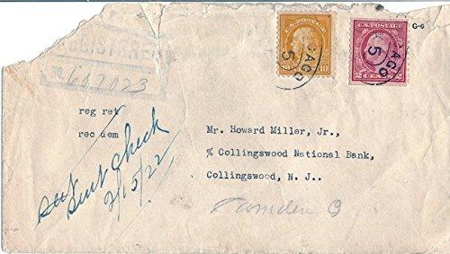 Postal Cover 1921 US 10 Cent Franklin Scott #510 And 2 Cent Washington Scott #492