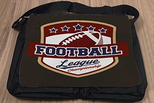 Borsa Tracolla Retro College Football Stampato