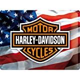 Motorbike Metal Plate FRENCH VINTAGE METAL SIGN 40x30cm RETRO AD HARLEY DAVIDSON MOTORBIKE USA FLAG Review
