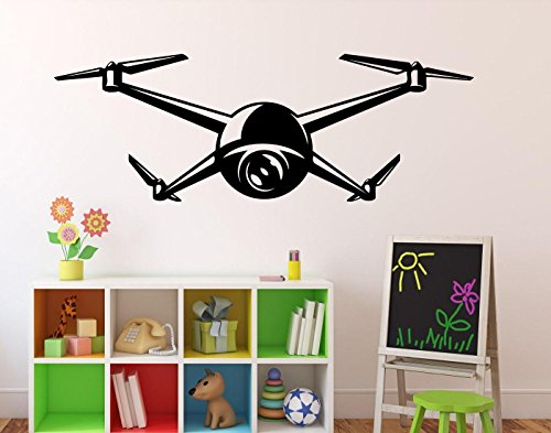 Drone Aircraft Wall Vinyl Decal Quadcopter Wall Sticker Aircraft Home Wall Art Decor Ideas Interior Removable Kids Room Design 11(drn) by Wall Vinyl Decals