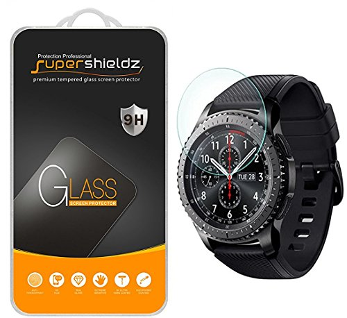 "[2-Pack] Samsung Gear S3 Frontier Tempered Glass Screen Protector, (Updated Version ""Full Coverage"") Supershieldz Anti-Scratch, Anti-Fingerprint, Bubble Free"