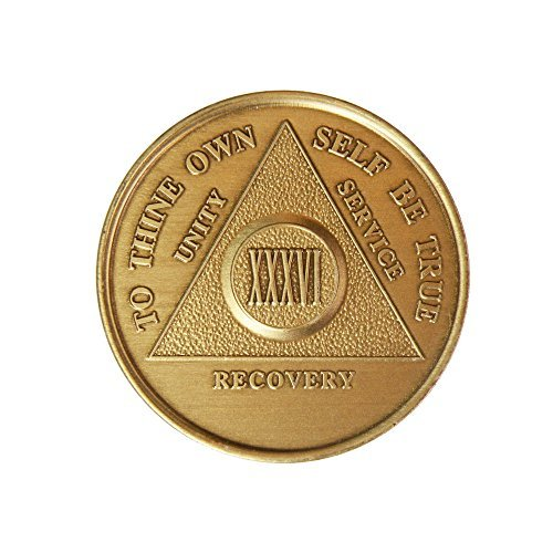 36 Year Bronze AA (Alcoholics Anonymous) - Sober / Sobriety / Birthday / Anniversary / Recovery / Medallion / Coin / Chip