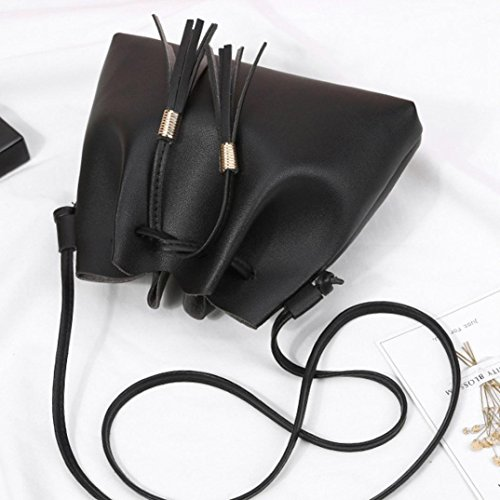 Handbag Phone Shoulder Tote Tassels Black Shoulder Girls Bag Leather Bag Women Bag Bag Crossbody Coin Bag Shopping Bag XOqFBP