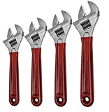 Klein Tools D507-6, 8, 10, 12'' Adjustable Wrench eXtra Capacity w/Dipped Handles 4PC