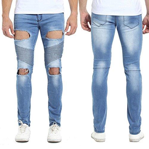 CRAODIEYA Los Hombres Skinny Jeans de Moda de diseño Slim ...