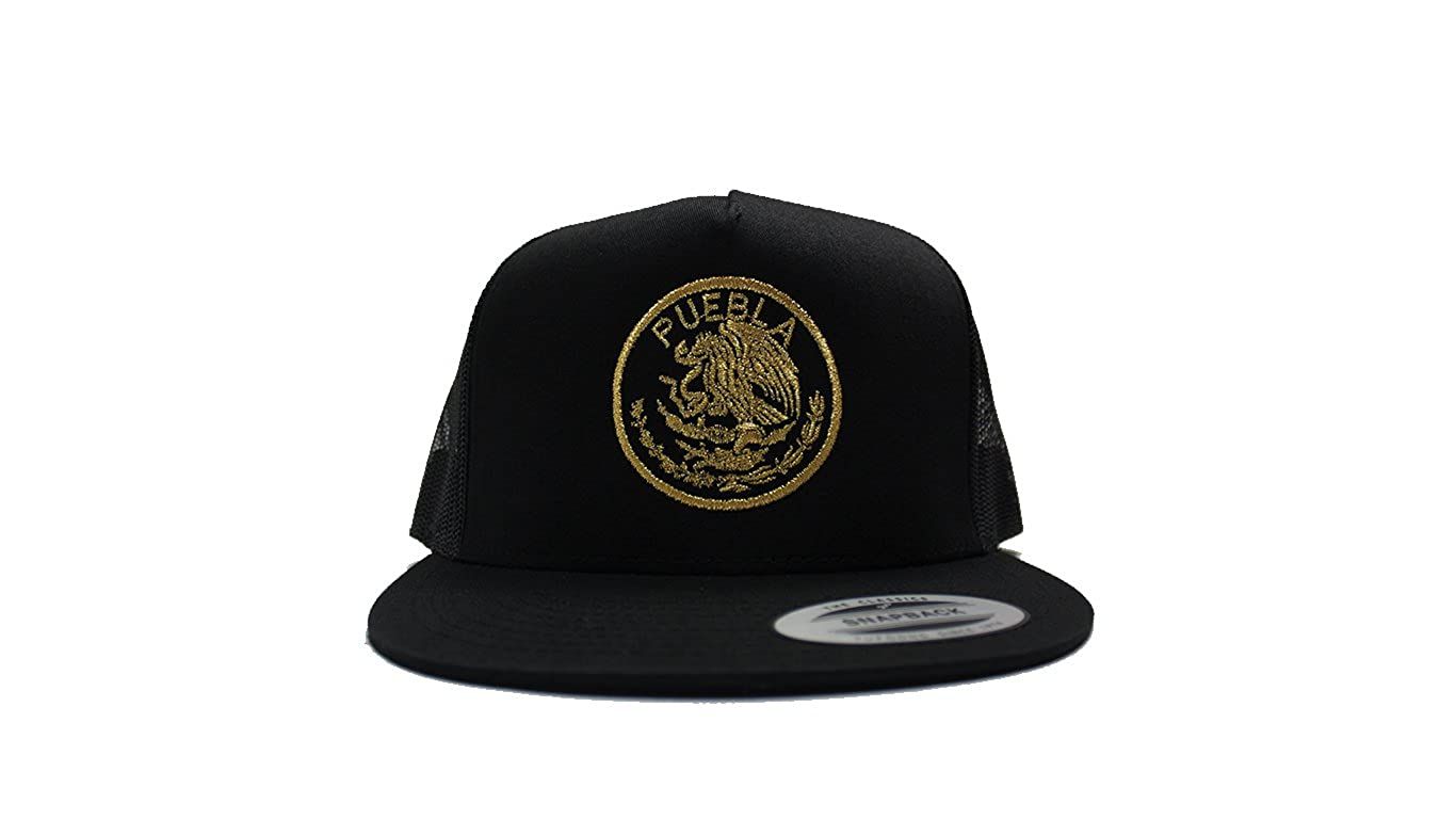 The World Of Hats Puebla Sello Aguila Mesh Trucker Snapback at Amazon Mens Clothing store: