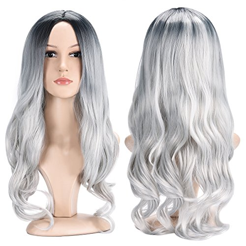 Another Me Black Gray Wigs 27.5