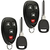 Keyless Entry Remote Ignition Key fits Buick Lucerne / Chevy Impala Monte Carlo / Cadillac DTS (OUC60270, OUC60221), Set of 2