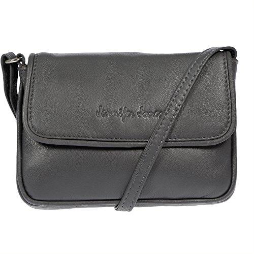 Christian Wippermann Damentasche Schultertasche aus Leder Grau Grau bdBWUJYni