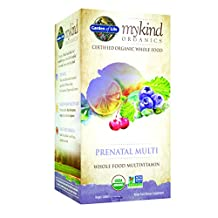 Garden of Life Organic Prenatal Vitamin - mykind Prenatal Whole Food Multivitamin Supplement, Vegan, 180 Tablets
