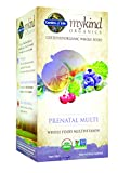 Garden of Life Organic Prenatal Multivitamin Supplement - mykind Whole Food Prenatal Vitamin, Vegan, 180 Tablets