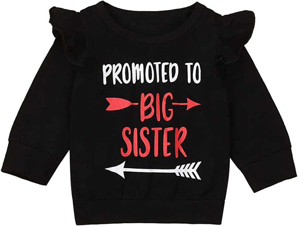 itkidboy Sibling Shirts Kids Baby Girls Sister Outfit Promoted to Big Sister T-Shirt Top