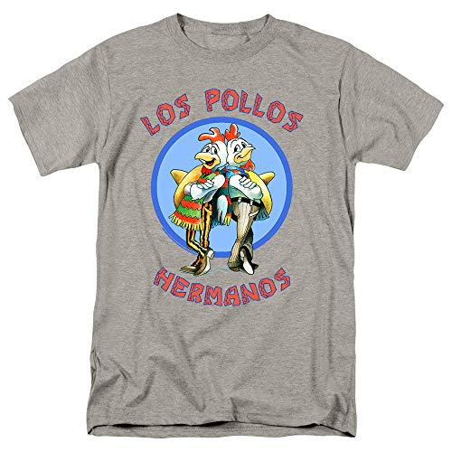 Breaking Bad Los Pollos T Shirt (XX-Large) Gray