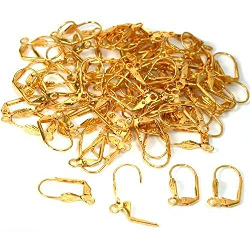 Perma Rings (76 Lever Back Earring Wire Perma Gold Parts)